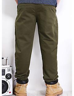 billige Drengebukser-Drenge Bukser Ensfarvet Forår Army Grøn