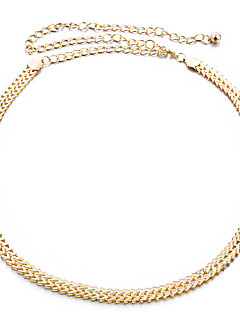 cheap Fashion Belts-Women's Alloy Chain - Solid Colored