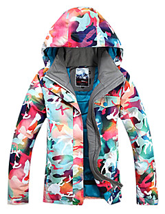 お買い得  スキーウェア-GSOU SNOW 女性用 スキージャケット 防水 保温 防風 耐久性 高通気性 スキー ウィンタースポーツ ポリエステル100%
