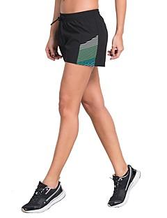 billige Løbetøj-Dame Split short til jogging og løb Shorts - Sport Træning & Fitness, Løb Letvægt, Hurtig Tørre, Åndbarhed Grøn, Grå, Rød+Blå Stribet