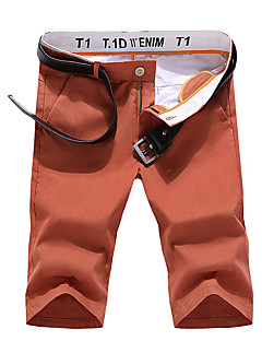 billige Herrebukser og -shorts-Herre Enkel Gatemote Shorts Chinos Bukser Ensfarget