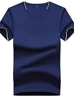 billige Herremote og klær-Polo Herre - Ensfarget Bokstaver Forretning Grunnleggende