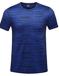 baratos Camisetas para Trilhas-Homens Camiseta de Trilha Ao ar livre Verão Secagem Rápida, Respirabilidade, Redutor de Suor Camiseta N / D Acampar e Caminhar, Exercicio Exterior, Multi-Esporte Verde Azul Cinzento