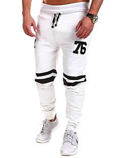 billige Herrebukser og -shorts-Herre Sporty Chinos Bukser Geometrisk