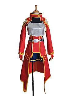 """billige Anime Kostymer-Inspirert av Sword Art Online Cosplay Anime  """"Cosplay-kostymer"""" Cosplay Klær Annen Langermet Topp / Skjørte / Hansker Til Unisex Halloween-kostymer"""