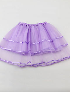 tanie Odzież dla dziewczynek-Jendolity kolor Dziewczyny Codzienny Wyjściowe Poliester Lato Bez rękawów Sukienka Urocza Aktywny Czerwony Blushing Pink Purple