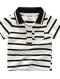 tanie Odzież dla chłopców-Dla chłopców Prążki Krótki rękaw T-shirt