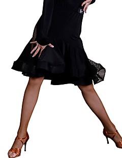 baratos Roupas de Dança Latina-Dança Latina Tutos e Saias Mulheres Treino Seda Sintética Renda Natural Saias