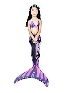 povoljno -The Little Mermaid Bikini Kupaći kostimi Halloween Karneval Dječji dan Festival / Praznik Halloween kostime Crvena Sirena Slatko novi