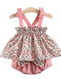 billige Sett med babyklær-Baby Pige Afslappet Prikker Uden ærmer Tøjsæt