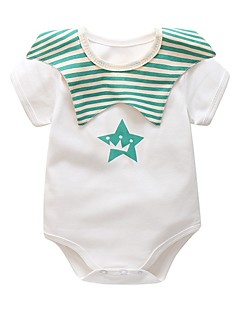 billige Babytøj-Baby Stribet Kort Ærme Bomuld En del