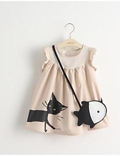 billige Pigekjoler-Baby Pige Aktiv Trykt mønster Uden ærmer Kjole