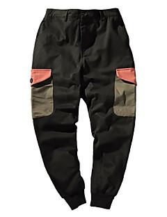 billige Herrebukser og -shorts-Herre Grunnleggende Harem Chinos Bukser Ensfarget