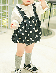 tanie Odzież dla dziewczynek-Spodnie Inne Dla dziewczynek Groszki Jesień White Black