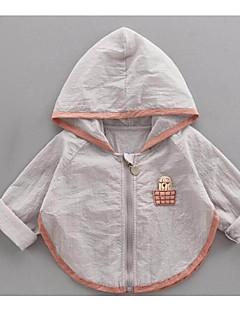 billige Overtøj til babyer-Baby Unisex Ensfarvet Langærmet Jakke og frakke