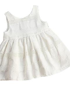 billige Babykjoler-Baby Pige Kirsebær Ensfarvet Uden ærmer Kjole
