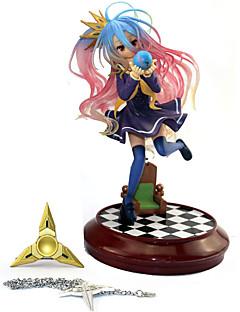 billige Anime cosplay-Anime Action Figurer Inspirert av Intet Spill Intet Liv Shiro PVC 20 cm CM Modell Leker Dukke