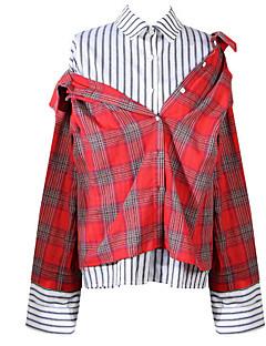 billige Skjorte-Dame-Ruder Basale Skjorte
