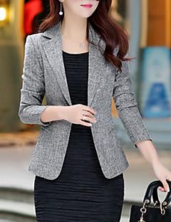 Χαμηλού Κόστους Blazers-Γυναικεία Μεγάλα Μεγέθη Μπλέιζερ Καθημερινά / Δουλειά Βασικό / Κομψό στυλ street - Μονόχρωμο / Άνοιξη / Φθινόπωρο