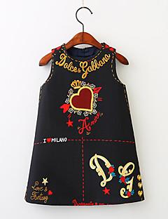 tanie Odzież dla dziewczynek-Sukienka Bawełna Dziewczyny Codzienny Urlop Kwiaty Wiosna Lato Bez rękawów Vintage Aktywny White Black