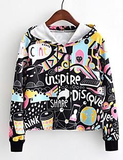 tanie Damskie bluzy z kapturem-Damskie Urocza Bluza z Kapturem - Jendolity kolor