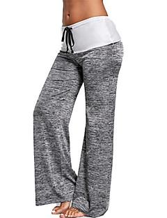 billige Løbetøj-Yogabukser Underdele Hurtig Tørre Blødhed Høj Elasticitet Letvægt Alm. taljede Sportstøj Dame Yoga Træning & Fitness Dans Træningscenter