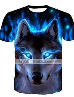 Χαμηλού Κόστους Πώληση-Ανδρικά T-shirt Βασικό Εξωγκωμένος Γεωμετρικό Στάμπα