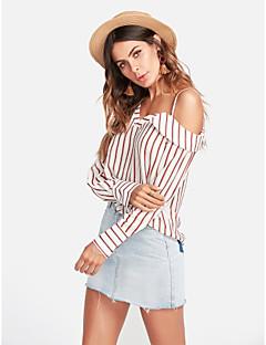 baratos Blusas Femininas-Mulheres Camiseta Activo Listrado