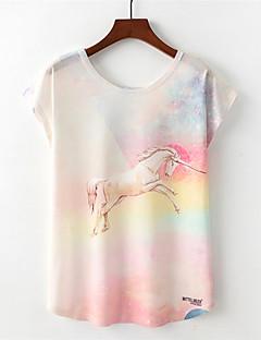 Χαμηλού Κόστους T-shirt-Γυναικεία T-shirt Ενεργό Ουράνιο Τόξο Ζώο