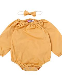 billige Babytøj-Baby Pige Ensfarvet Uden ærmer En del