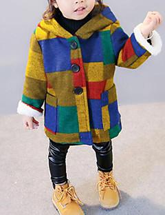 Χαμηλού Κόστους Winter Sale-Κοριτσίστικα Μπουφάν & Παλτό Συνδυασμός Χρωμάτων Χειμώνας Φθινόπωρο Μακρυμάνικο Ουράνιο Τόξο