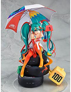 billige Anime cosplay-Anime Action Figurer Inspirert av Vokaloid Snø Miku 2018 PVC CM Modell Leker Dukke Herre Dame