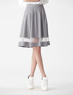 Χαμηλού Κόστους HEART SOUL-Γυναικεία Γραμμή Α Βασικό / Κομψό στυλ street Εξόδου Φούστες - Μονόχρωμο Ψηλή Μέση