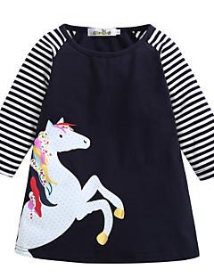 billige Babykjoler-baby pige daglige stripede kjole, polyester foråret søde street chic lange ærmer sort 140 130 120 110 100