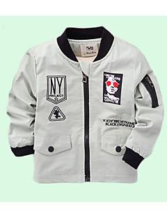 billige Jakker og frakker til drenge-Børn Baby Drenge Ensfarvet Geometrisk Langærmet Jakke og frakke