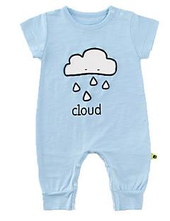 billige Babytøj-Baby Unisex Ensfarvet Halvlange ærmer En del
