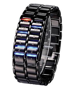 billige Digitalure-Herre Dame Digital Digital Watch Armbåndsur Kinesisk Kalender Kronograf Afslappet Ur Selvlysende i mørke Selvlysende Legering Bånd Sej