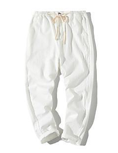 billige Herrebukser og -shorts-Herre Enkel Chinos Bukser Ensfarget