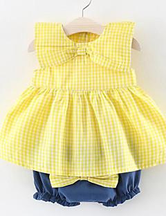 billige Sett med babyklær-Baby Pige Stribet Tunika Uden ærmer Tøjsæt