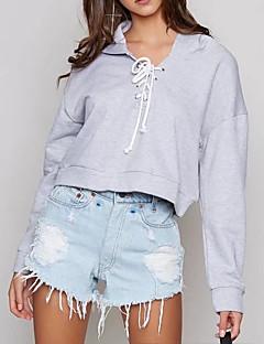 tanie Damskie bluzy z kapturem-Damskie Urocza Aktywny Bluza z Kapturem - Jendolity kolor