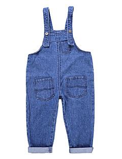 tanie Odzież dla chłopców-Jendolity kolor Dziewczyny Codzienny Poliester Lato Bez rękawów Sukienka Niebieski