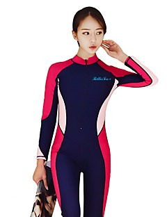 cheap Surfing, Diving & Snorkeling-Women's Dive Skin Suit Comfortable Removable Cups Compression Polyester Nylon Spandex Long Sleeves Diving Suits Surfing Dive Wakesurfing