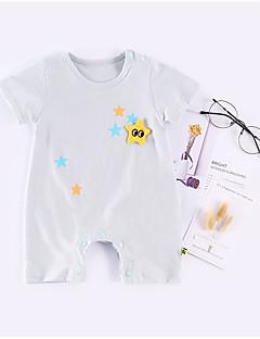 billige Babytøj-Baby Unisex Trykt mønster Kort Ærme Overall og jumpsuit