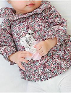 billige Babyoverdele-Baby Pige Vintage Blomstret Bomuld Bluse