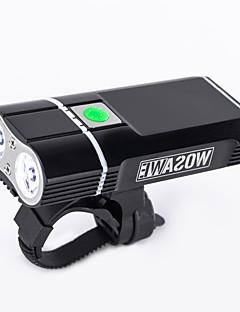 baratos Ciclismo-Luz Frontal para Bicicleta / Farol para Bicicleta - Luzes de Bicicleta Ciclismo Impermeável, Portátil, Ajustável Bateria de Lítio 2400 lm Ciclismo - WOSAWE