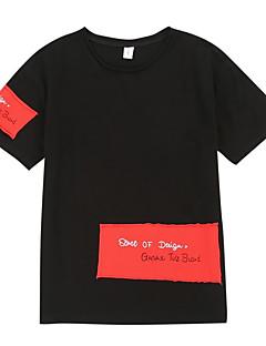billige Overdele til drenge-Børn Drenge Trykt mønster Patchwork Kortærmet T-shirt