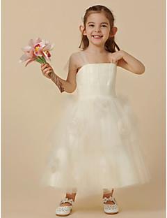 billiga Första nattvardsklänningar-Prinsessa Telång Brudnäbbsklänning - Tyll Ärmlös remmar med Blomma av LAN TING BRIDE®