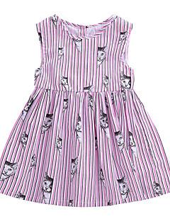 billige Babytøj-Baby Pige Kat Stribet / Geometrisk Uden ærmer Kjole
