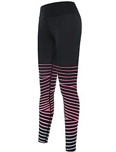 billiga Träning-, jogging- och yogakläder-Dam Tights för jogging - Blå, Svart / röd, Vinröd sporter Cykling Tights / Leggings Sportkläder Snabb tork