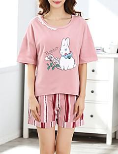 billige Moteundertøy-Dame U-hals Dress Pyjamas - Stripet